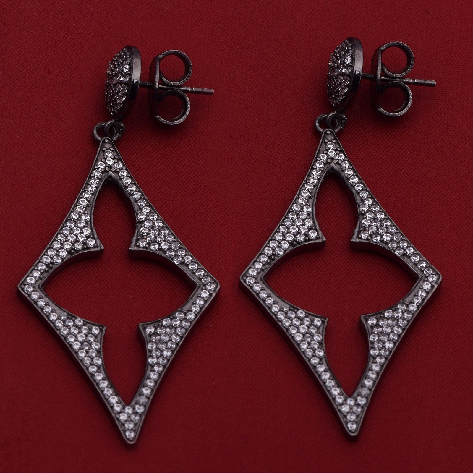 Newly Stud Cubic Zirconia 925 Sterling Silver Earring Shine Jewelry SHER0614