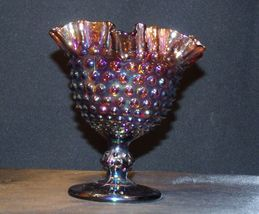 Imperial Hand Crafted Purple Carnival Glass Compote USA AA19-CD0041 Vintage image 8
