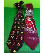 Christmas Holiday Neckties Santa Claus Merry Christmas Golf Gift - $11.30