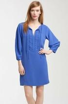 Diane von Furstenberg Silk Iliana Shift Dress Blue Embellished Neckline ... - $33.29
