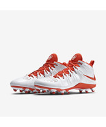 New Nike Men Huarache 4 Lax Lacrosse Firm Ground Cleats White Size 8 - $76.22