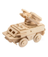 Antiaircraft Missile 3D Wooden Puzzle DIY 3 Dimensional Wood Build It Yo... - $6.99
