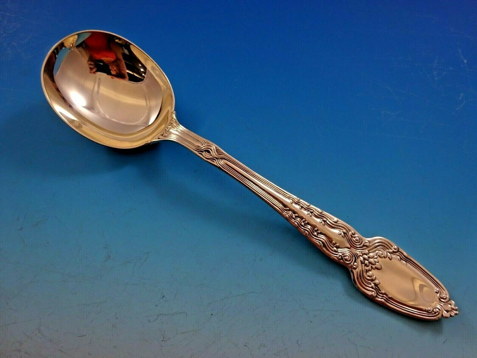 "Primary image for Broom Corn by Tiffany & Co. Sterling Silver Gumbo Soup Spoon 8"" Large Round"