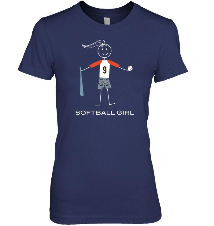 Funny Softball Tshirt for Girls Sport Gifts for Women