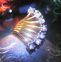 Haunted RING SERAPHIM ANGEL VESSEL MAGICK 925 CRYSTAL WITCH Cassia4  - $67.77
