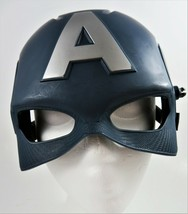 Marvel Captain America Half Face Mask Civil War Hasbro 2016 Hard Plastic #B5787 - $16.78