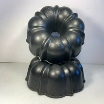 Nordic Ware Bundt Cake Pan 6 Cup Capacity Heavy Metal Made in USA Preown... - $24.74