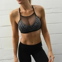 Women Sports Bra Fitness Top Yoga Mesh Polyester Breathable Gym Top Quic... - $18.97