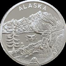 Alaska Mint Official 2020 State Medallion  Silver Medallion Proof 1 Oz - $84.14