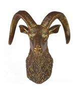 Sheep Head Wall Hanging Decoration Plastic antique golden - $98.36