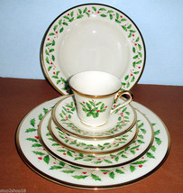 Lenox HOLIDAY 6 Piece Place Setting Includes Soup Bowl Dinnerware Set New In Box - $112.90
