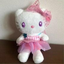 Hello Kitty USJ Limited Plush Doll Eyes Heart Tulle Dress 2016 Sanrio Ja... - $72.51
