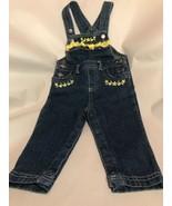 Wonderkids toddler Denim baby bib overalls 12  Months Snap Crotch - $8.79