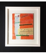 "Mixed Media Collage: Invoice 8"" x 10"" (Framed to 13"" x 15"") - $100.00"
