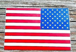 """AMERICAN FLAG Highly Reflective REVERSE Vinyl Decal -2"""" x 3"""" - $4.94"""