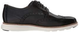 Neuf Homme Cole Haan Original Grand Shortwing Noir Robe Ivoire Chaussures 10 image 1