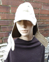 VINTAGE WWII  KHAKI WINTER CAP G.I. Cold Weather Hat WOOL lined  NAMED  ... - $27.71