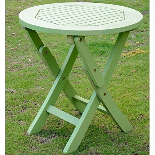 International Caravan Furniture Piece Acacia Round Folding Table
