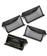 4 pack Mesh Metal Business Card Holder Stand and Cell Phone holder - $14.83