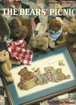 Bears Picnic Cross Stitch Pattern Leaflet 2221 Leisure Arts - $4.99