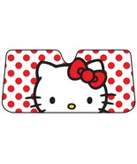 Sanrio Hello Kitty Dots Windshield Sun Shade Accordion Sunshade - $21.95