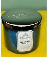 Bath & Body White Barn Aromatherapy Bergamot Waters Jar Essential Oil Ca... - $34.64
