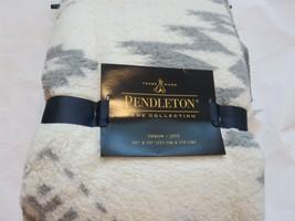 Pendleton Aztec Southwest Sherpa Plush Throw blanket Grey Cream NWT - £58.01 GBP