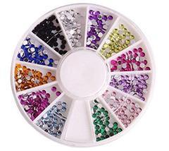 2 Packs Beautiful Nail Art DIY Decoration Random Color,Style 14