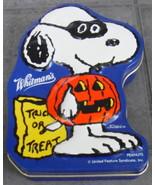 Halloween Peanuts Snoopy Metal Candy BOX Pumpkin Costume Trick or Treat ... - $12.99
