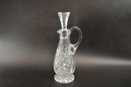 """Crystal Oil Decanter Pouring Spout w/ Stopper Vinegar Bottle 7.5"""" Vtg Pinwheel - $24.00"""