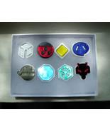 Pokemon Gym Badges: Gen 2 - Johto League Acrylic  Hand Assembled - $50.00
