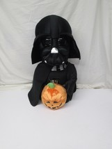 "Star Wars Darth Vader Halloween Greeter Vader 20"" Plush Holding Pumpkin  - $51.97"
