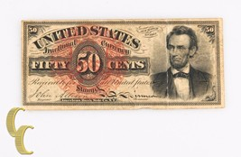1863 Fractional Currency Fifty Cents (VF) Lincoln Fourth 4th Issue 50c F... - $296.01