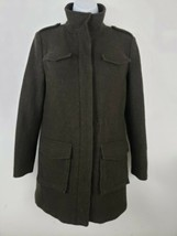 Brooks Brothers Red Fleece Women's Pea Coat Jacket  Brown Wool Herringbo... - $89.09