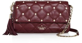 Kate Spade emerson place serena Pearl Stud Quilted Chain Should Bag Clut... - $4.316,46 MXN