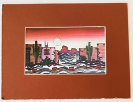 Signed Art Print by Greg Kyle Known Southwest Artist Painter Tucson Arizona - $38.69