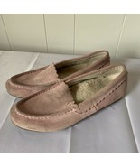 Vionic McKenzie Slip On Moccasin Shoes Light Pink Suede Womens Size 7 - $28.68