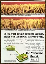 1973 Sears Powermate Vacuum PRINT AD Canister and Upright in One - $7.82
