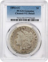 1892-CC $1 PCGS VG Details (Cleaned) - Morgan Silver Dollar - $160.05
