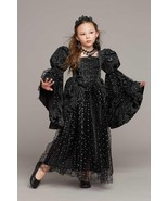 Girls Chasing Fireflies Costume Wicked Princess Black Gown Dress Up Hall... - $80.10