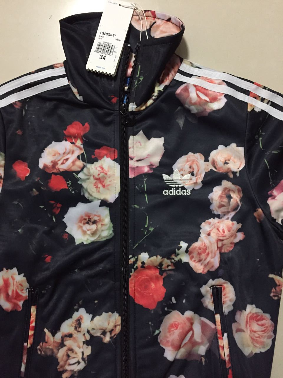 e81a66bf564 New Adidas Firebird Track Top Floral Roses Jacket sweater for women s F78292
