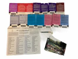 Lot of Vintage Masters Tournament Ticket Collection 1997-2003 Augusta Ephemera image 2