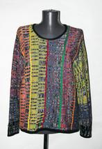 Vintage 1980s ROBERT MILLER Texturized Multicolor Sweater Wool Blend EUR... - $32.38
