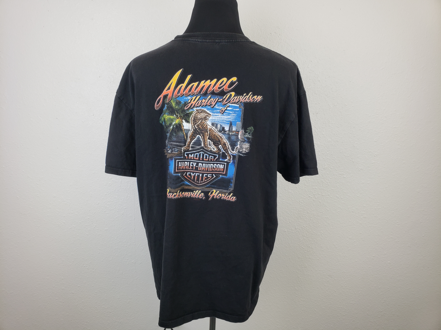 Primary image for Harley Davidson Jacksonville Mens T-shirt Size 2XL Black QC20