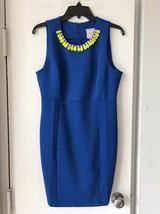 New Romeo & Juliet Blue Sleeveless Dress / Crystal Bib Collar SZ L $185 - $29.09