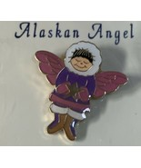Alaska Alaskan Angel Pin Tack Pin Enamel Pink Purple Holding a Gold Tone... - $8.90