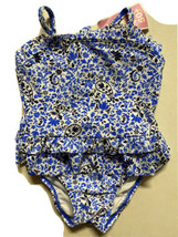 Circo Toddler Girls Size 12M Navy Blue Paisley One Piece Bathing Suit Sw... - $9.99