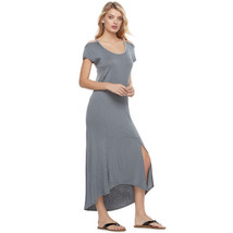 NWT Gorgeous Juicy Couture Stretchy Cold-Shoulder Maxi Dress - Gray - $28.88