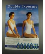 1991 Vaseline Intensive Care moisturizing sunscreens Ad - Double Exposure - $14.99