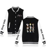 XXS-4XL Stray Kids Circle Show Printed Baseball Jacket Buckle Outwear Tops - $19.00+